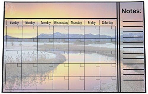 Magnética de borrado en seco y mojado calendario de borrado en–imán de nevera 27.9x 43.2cm (nieve)