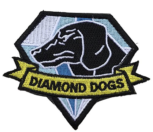 Patch Squad Men's Metal Gear Solid Phantom Pain Embroidered Patch (Blue Diamond Dog Iron/Sew (Solid Snake Phantom Pain Costume)