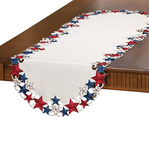 Americana Stars Patriotic Table Runner
