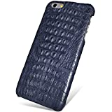 UU&T Handcrafted Crocodile Leather Protective Case for Iphone6 Plus / 6s Plus (5.5inch) [Elite](Midnight Blue: Back Leather)
