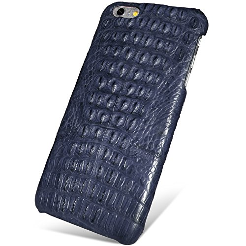 UU&T Handcrafted Crocodile Leather Protective Case for Iphone6 Plus / 6s Plus (5.5inch) [Elite](Midnight Blue: Back Leather) by UU&T