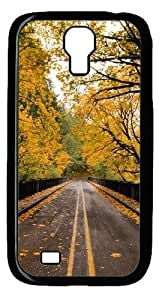 diy phone caseCool Painting Samsung Galaxy I9500 Case,Autumn Road Polycarbonate Hard Case Back Cover for Samsung Galaxy S4/I9500diy phone case