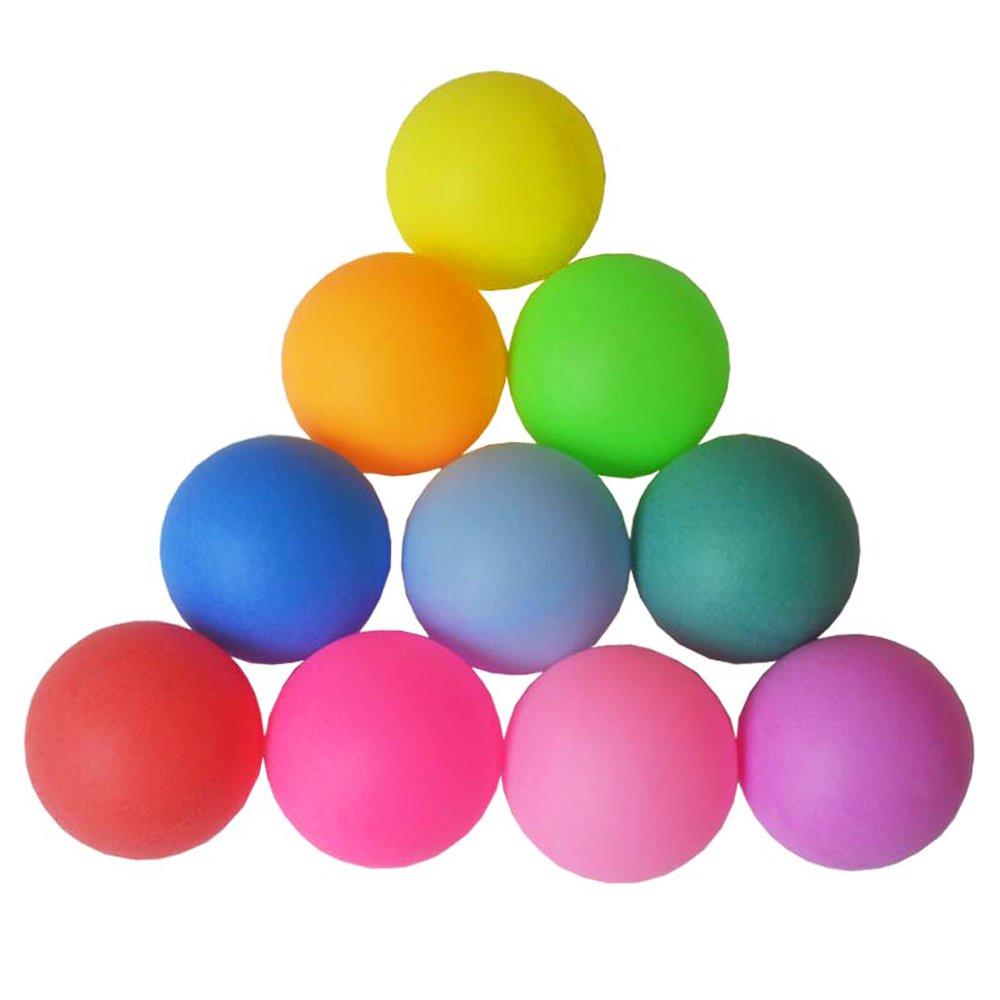 Ndier Ping Pong Bälle, Set aus 12 Stück Farbige Plastikkugeln aus Tischtennis 40mm Zum Spielen und Trainnig Ndier Ping Pong Bälle