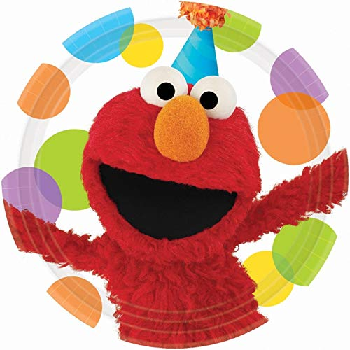 Elmo Sesame Street Smiling Party Hat Dots Edible Cake Topper Image ABPID01376 - 3