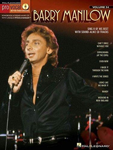 Barry Manilow: Pro Vocal Men's Edition Volume 54