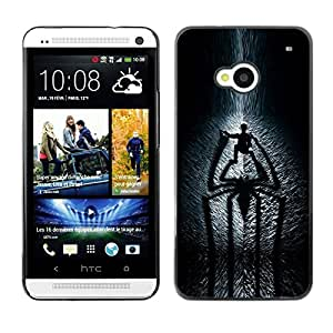 Design for Girls Plastic Cover Case FOR HTC One M7 Spider Shadow OBBA