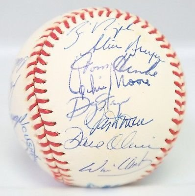 1994 Texas Rangers Team Signed Baseball 26 AUTO 's w/Will Clark Includes PSA/DNA LOA (Rangers Signed Auto)