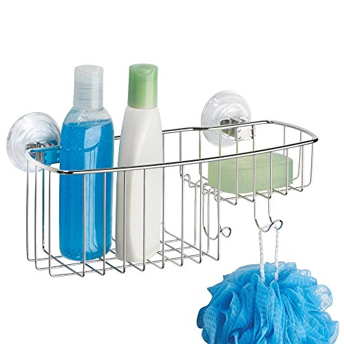 InterDesign Reo Power Lock Suction Bathroom Shower Combo Caddy Basket For New