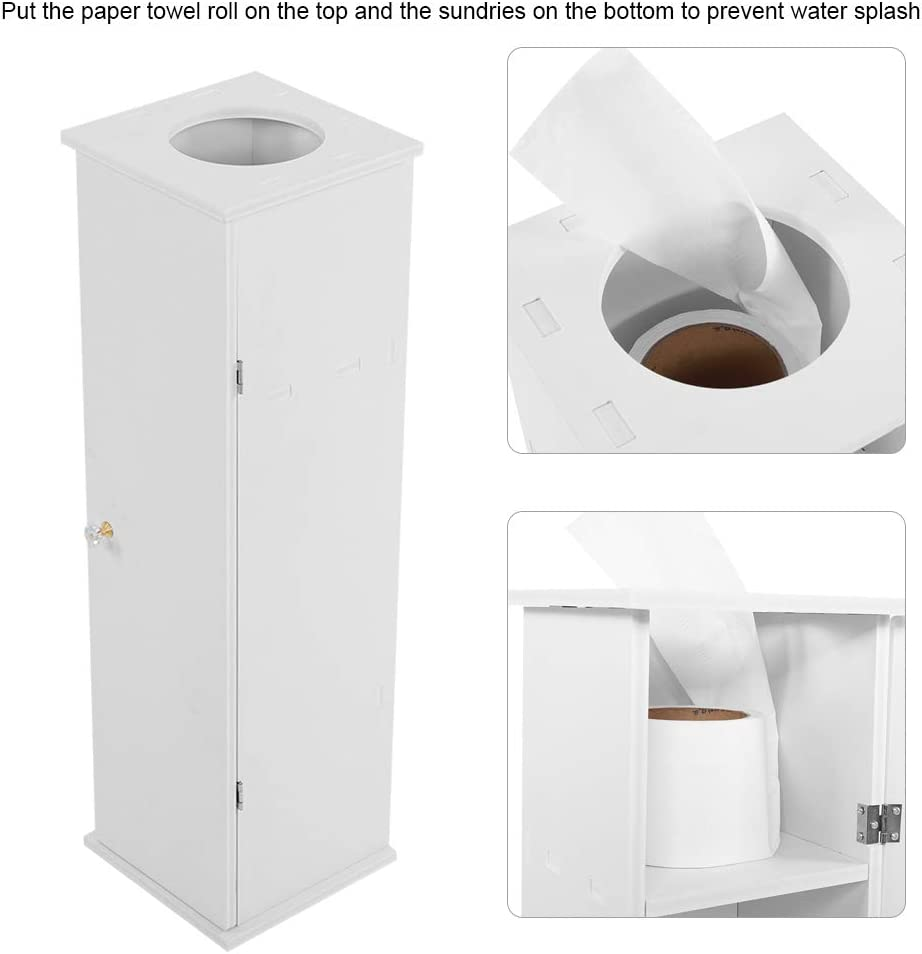 Mobiletto da Bagno per WC da corridoio Bianco 65 x 19,5 x 19,5 cm Greensen Mobiletto da Bagno