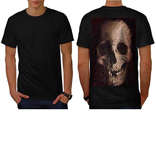 [Skull Devil Eyes Art Costume Men NEW S T-shirt Back | Wellcoda] (Pregnant Basketball Costume)