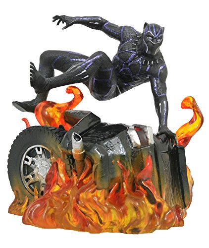 DIAMOND SELECT TOYS MAY182305 Select Toys Marvel Gallery: Black Panther (Version 2) PVC Diorama Figure