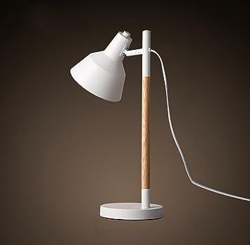 Tabellenlampe Einfache Moderne Wohnzimmer Holz Persönlichkeit Lampen  Schlafzimmer Nachttisch Mode Verschiebung Desktop Tischleuchte Desktop  Tischlampe