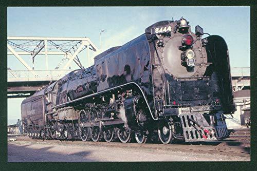 Union Pacific Northern No 8444 Smoke Deflectors Steam Train Railroad Locomotive Postcard