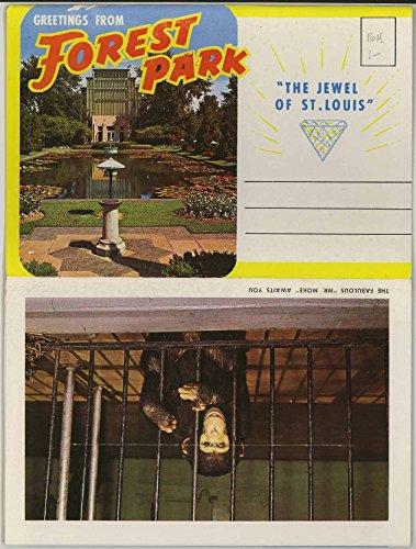 Forest Park and Zoo - St. Louis (1960's Souvenir Missouri Postcard Folder) P90657