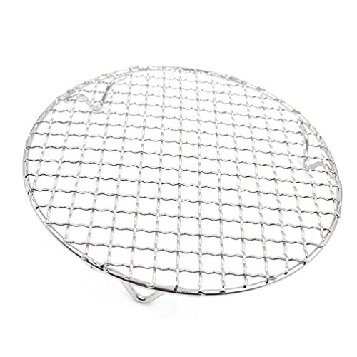 ound Barbecue Grids Cross Wire Footed Steaming Stainless Steel Cooling Rack with Legs Multi-Purpose Grill Wire Rack for Airfryer Instant Pot/Pressure Cooker (295mm)) ()