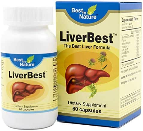 LiverBest - Vitamin Promotes Healthy Liver Function, Enhance Detoxification - with Milk Thistle, L-taurine, Sophora Flavescens, Schizandra, Kudzu Extract, Choline Bitartrate.