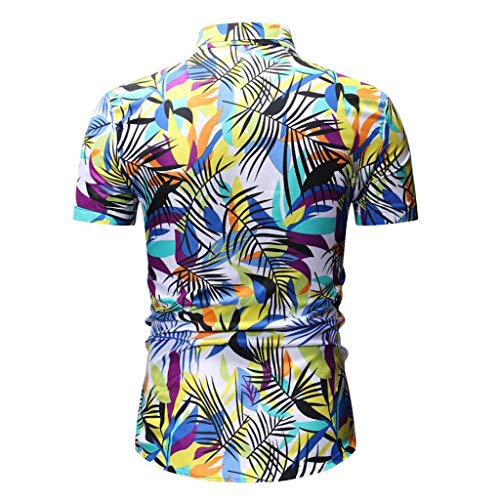 8e714162dca82 Long Sleeve Shirt for Men with Pocket,Men Casual Slim Fit Short Sleeve  Button Printed