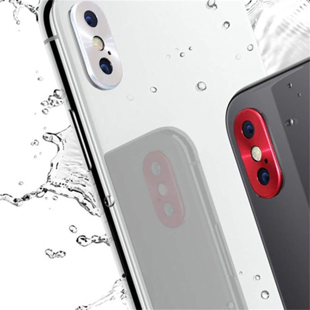 Black, iPhone XS Max//XS//X for iPhone XS Max//XS//X Rear Back Camera Metal Protector Protective Lens Case Rin
