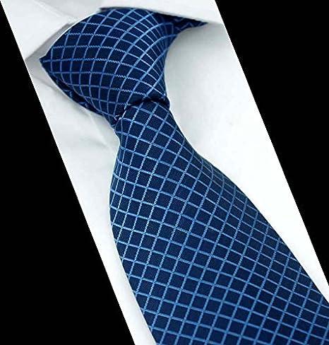 L @ GY Hombre Traje Business corbata púrpura azul cobalto de rayas ...