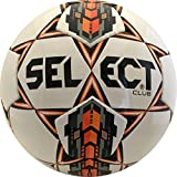 Select Club Soccer Ball, White/Orange, 5