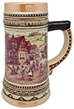 Ceramic Beer Stein with German Village D