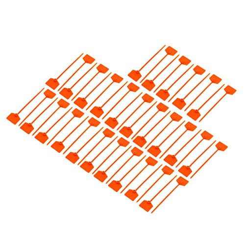 uxcell 50Pcs 3mmx120mm Nylon Self-Locking Label Tie Cable Marker Cord Wire Zip Orange