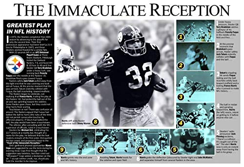 PosterWarehouse2017 The Immaculate Reception: The Greatest Play in NFL History Commemorative ()