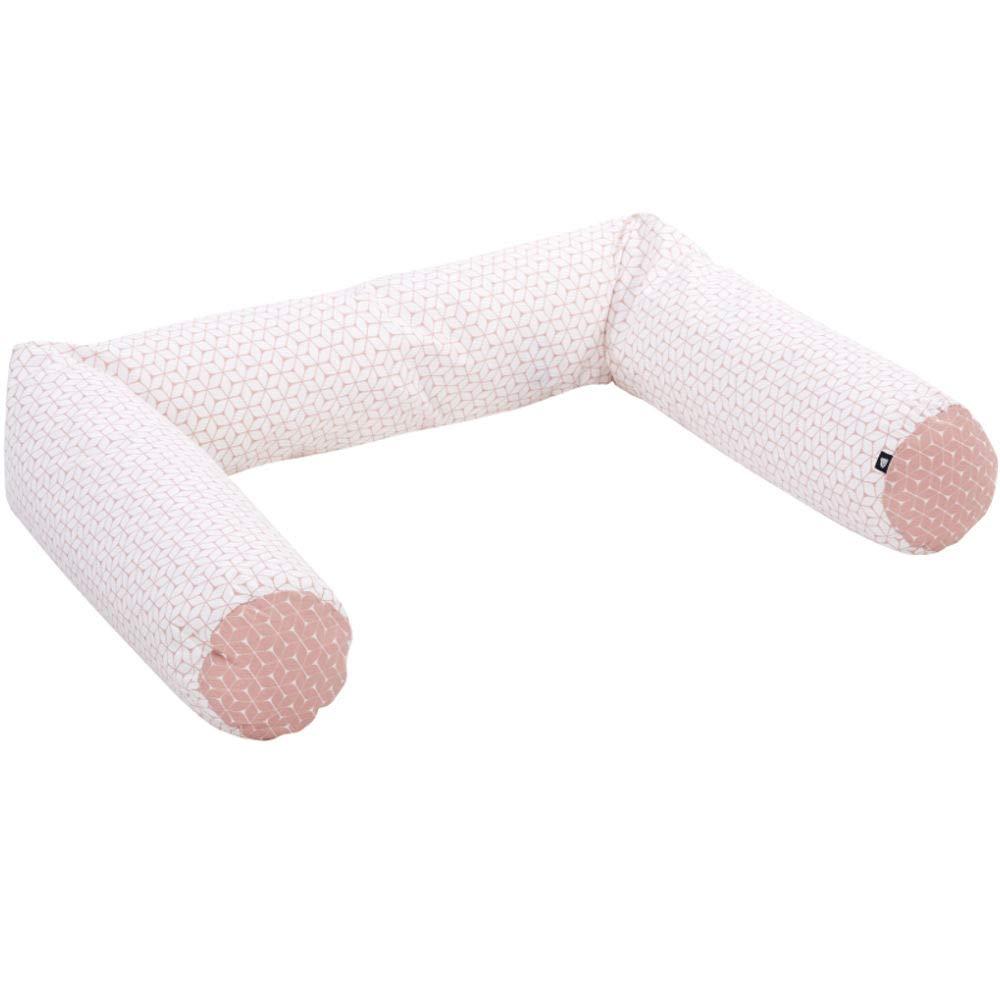 Alvi Nestchenschlange f/ür Kinderbett und Kommode Raute rosa 180 cm