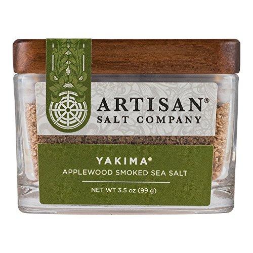 Yakima Applewood Smoked Sea Salt, Boutique Glass Jar, 3.5 (Sea Glass Rub)