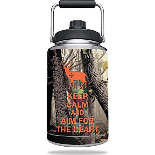 MightySkins Skin Compatible with Yeti One Gallon Jug - Deer Hunter | Protective, Durable, and Unique Vinyl Decal wrap Cover | Easy to Apply, Remove, and Change Styles | Made - Gallon Deer Jug 1