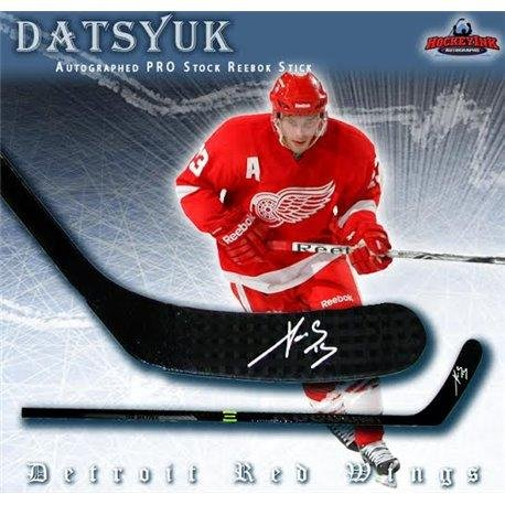 Pavel Datsyuk Autographed Hockey Stick - PRO STOCK Reebok RIBCOR Composite - Autographed NHL Sticks