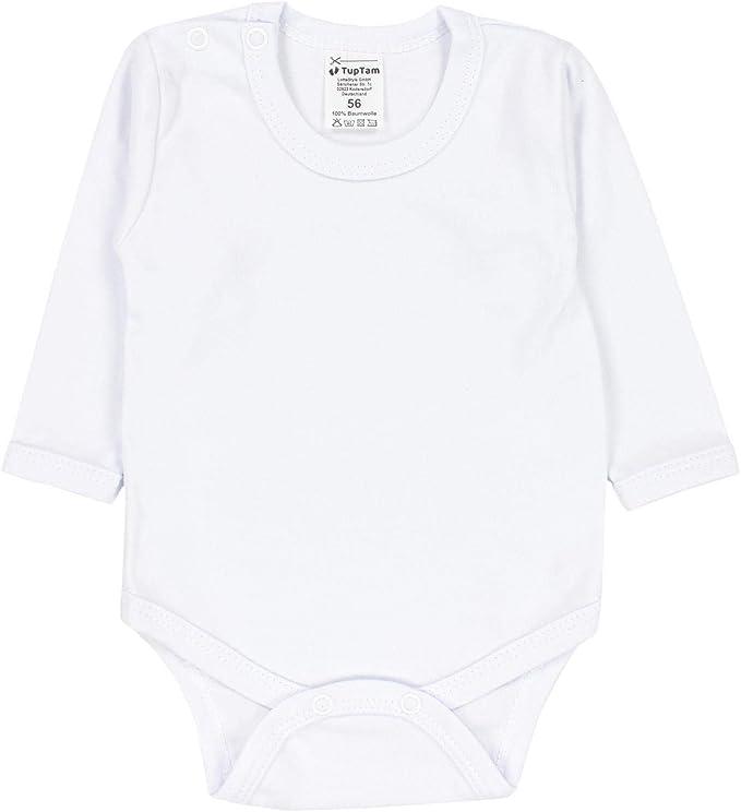 TupTam Jungen Baby Body Langarm Unifarben 5er Pack