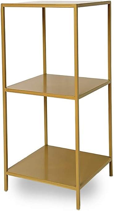 Disraeli - Estantería de Hierro con 3 estantes, Color Dorado ...