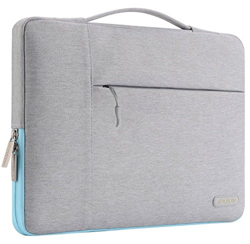 Mosiso-Polyester-Fabric-Multifunctional-Sleeve-Briefcase-Handbag-Case-Cover-for-13-133-Inch-Laptop-Notebook-MacBook-AirPro-Gray-Hot-Blue