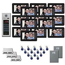 Apartment Video Intercom 14 7 color monitor door camera key fob