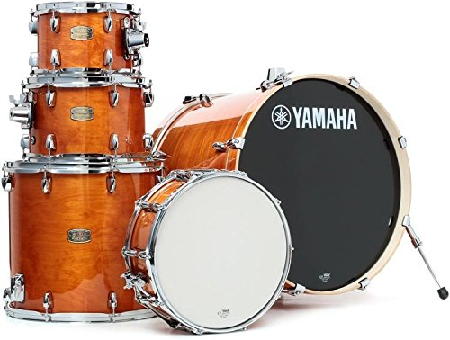 "Yamaha Stage Custom Birch 5pc Drum Shell Pack - 22"" Kick, Honey Amber"
