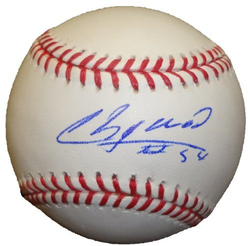 Aroldis Chapman Autographed Official Major League Baseball W/PROOF, Picture of Aroldis Signing For Us, New York...