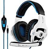 Gaming Headset Xbox One, SADES SA810S Stereo Over-ear Noise Isolation Bass Gaming Headphones