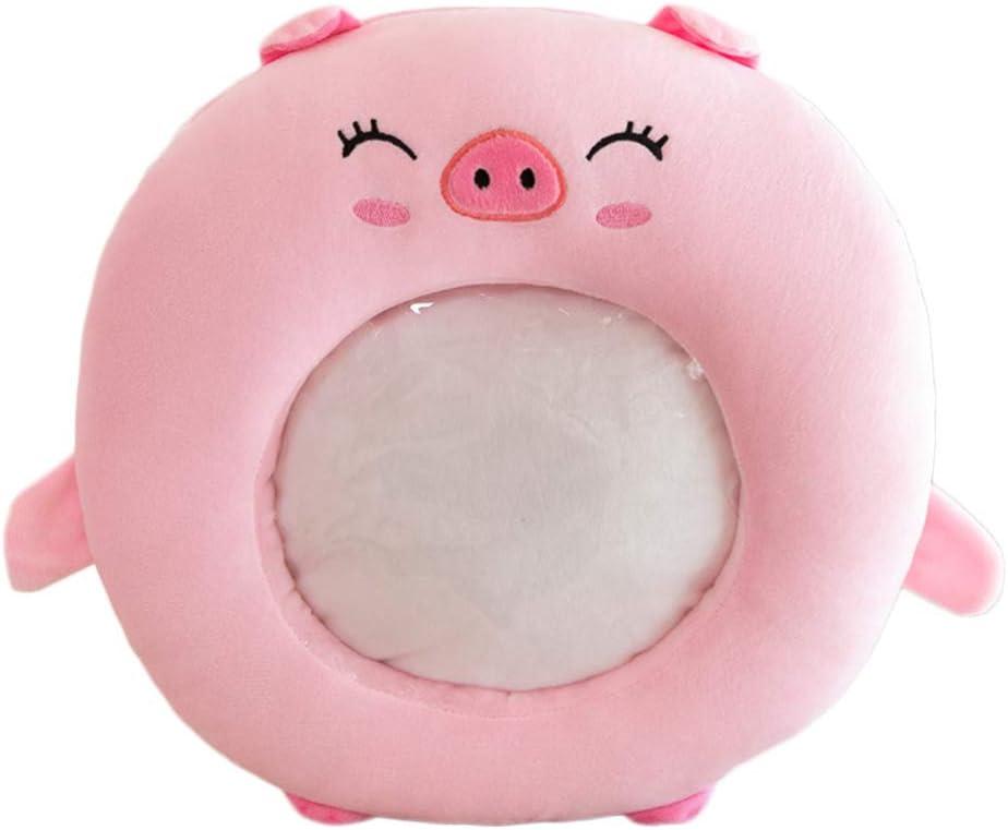 35cm YIREAUD Coussin Chauffe-Mains en Peluche pour t/él/éphone Portable Motif Animal Mignon 35 Cochon