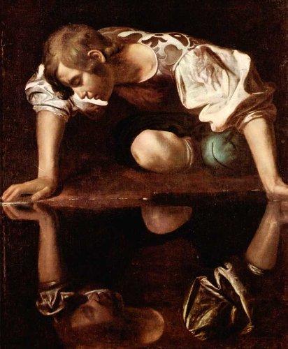18x24 Caravaggio Art CANVAS PRINT Narcissus