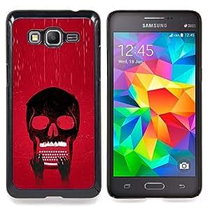 "Qstar Arte & diseño plástico duro Fundas Cover Cubre Hard Case Cover para Samsung Galaxy Grand Prime G530H / DS (Cráneo Typewriter fresca"")"
