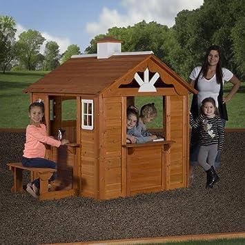 Amazoncom Children Playhouse Kids Play Fun Outdoor Garden Log