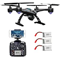 Contixo F5 WiFi FPV Quadcopter Drone w/ HD Camera, Live Video For Aerial Photography, Altitude Hold, Auto Return, Easy to Fly for Expert Pilots & Beginners | Great Gift Idea