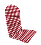 "Polyester Classic Adirondack Cushion, 49"" x 20½"" x 2½"" with hinge 18"" from bottom, in Red Gingham"