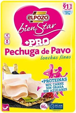 ElPozo, Fiambre de pavo - 90 gr.: Amazon.es: Alimentación y ...