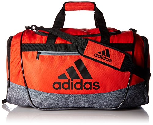 adidas Defender III Duffel Bag, Hi-Res Red/Onix Jersey/Black/Grey, Medium from adidas