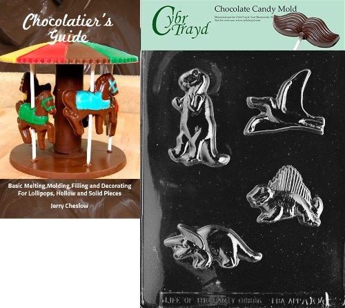 Cybrtrayd Bk-A104 Four Dinos Animal Chocolate Candy Mold by CybrTrayd