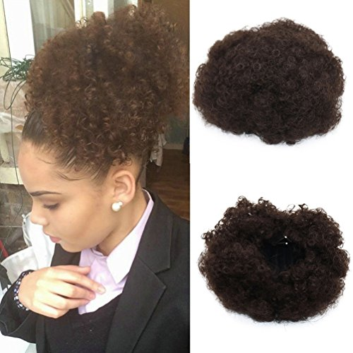 Synthetic Curly Wave Hair Clip Ponytail Short Afro Kinky Curly Wrap...