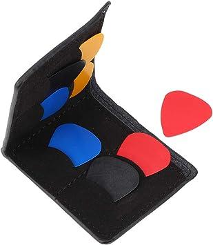 Bnineteenteam Estuche para púas de Guitarra Estuche para púas de Guitarra de Cuero de PU con 8 Piezas Selecciones Coloridas para guitarristas(Negro): Amazon.es: Deportes y aire libre