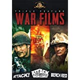 War Films Triple Feature: Attack!/Attack on the Iron Coast/Beach Red
